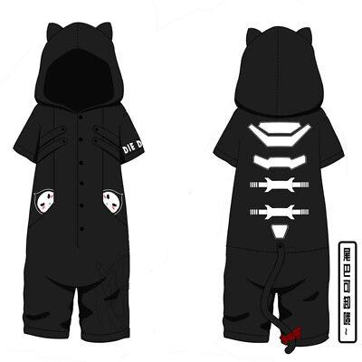 Game Overwatch Reaper Kigurumi Short Sleeve Jumpsuit Pajamas Cosplay Costume New