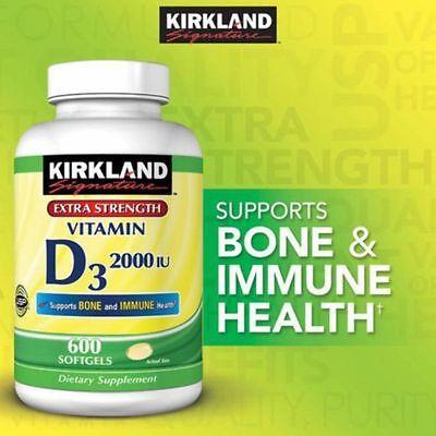 Kirkland Signature Vitamin D3 2000 Iu 600 Softgels