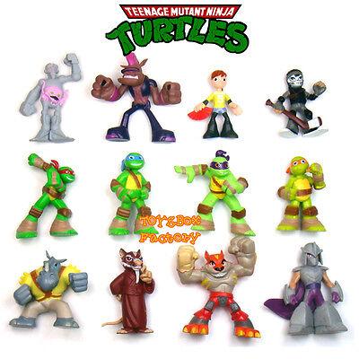 12 Teenage Mutant Ninja Turtles Movie TMNT Figure Doll Kid Cake Topper Decor Toy - Teenage Mutant Ninja Turtles Cake Decorations