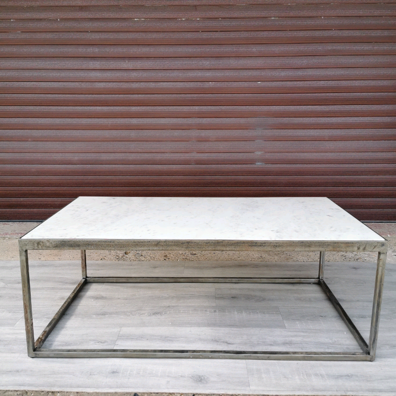 Furniture Village Wind White Polished Marble Iron Coffee Table In Retford Nottinghamshire Gumtree