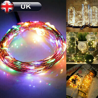 20 LEDs Battery Operated Mini LED Copper Wire String Fairy Lights 2M