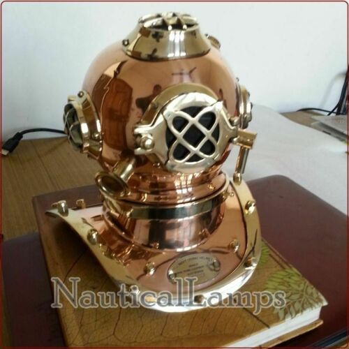 U.S NAVY MARK V BRASS COPPER DIVING DIVERS HELMET COLLECTIBLE DEEP SEA Halloween