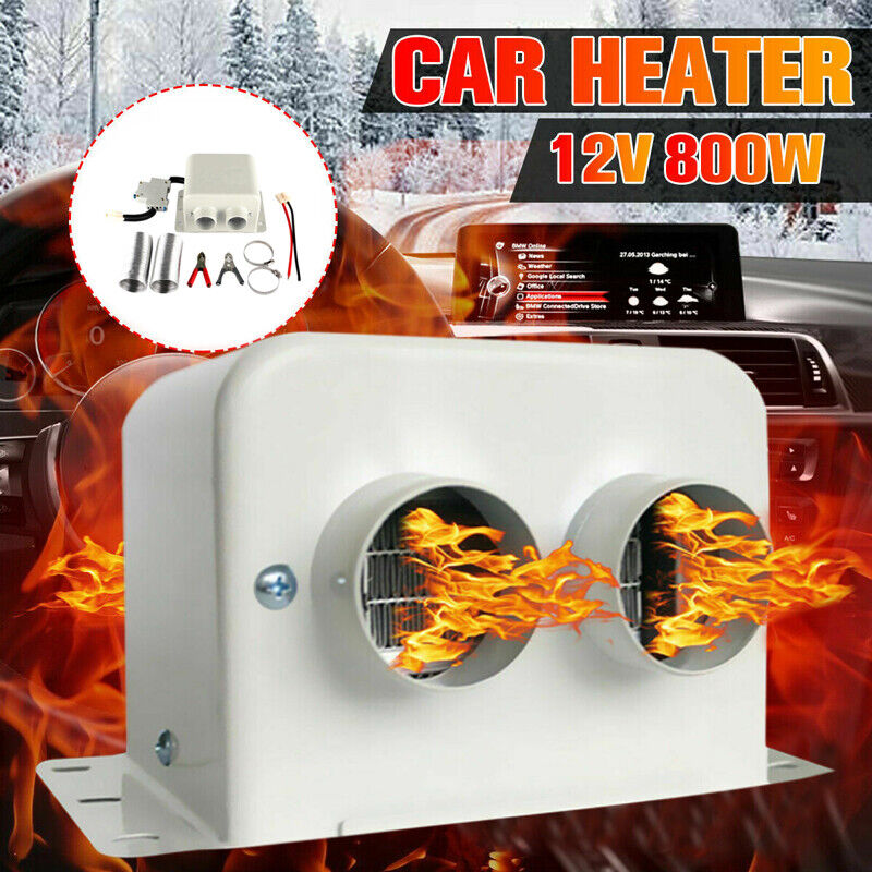 DC 12V 800W Portable Car Dual Heating Heater Cooling Fan Defroster Demister US