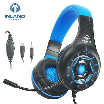 Pro Gamer Gaming Stereo Mic Headset Headphone Inland Sound For PS4/Xbox One/PC