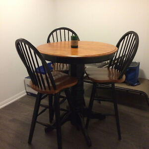 Pub Style Dining Table & Chairs London Ontario image 1