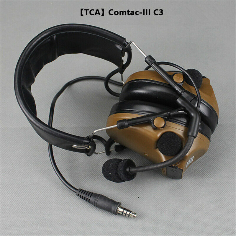 TCA Comtac III Headset Military Standard Plug Headset For PRC 148 152 MBITR New