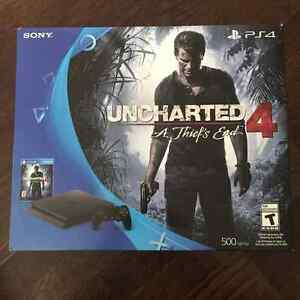 BNIB/UNOPENED: PS4 Slim 500 GB Uncharted 4: A Thief's End Bundle