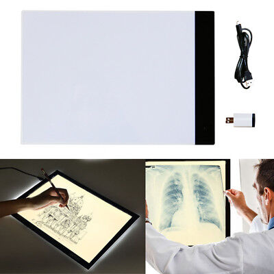 High Transparency A4 LED Tracing Light Box Board Copy Drawing Pad Tracer Table