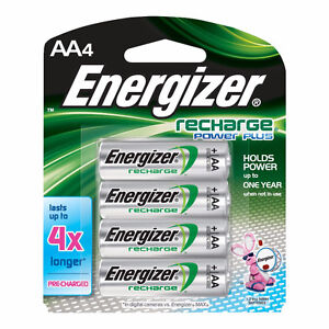Energizer NH15BP4 New Recharge Batteries, AA, 4-Count by Energiz