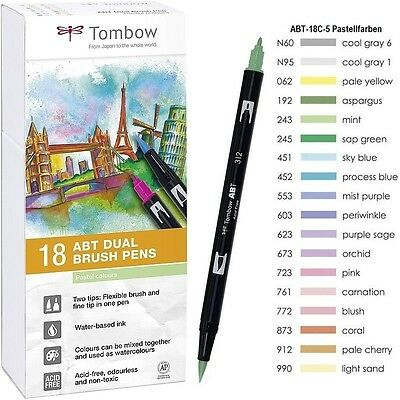 Tombow Dual Brush Pen ABT-18C-5 Pastellfarben