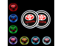 2× Switchable 7RGB Colors LED Car Cup Holder Pad Mat Atmosphere Lights For Scion