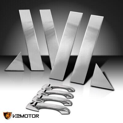 For Chrysler 300 300C/Magnum Shinny Mirror Chrome Door Handles+Door Pillars