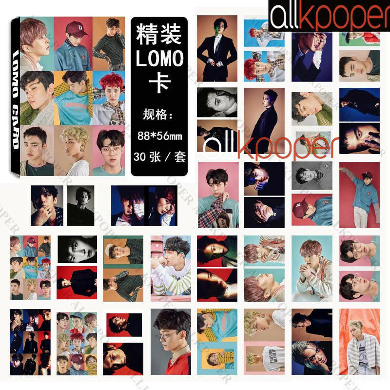 KPOP 30pcs EXO LOMO Card Collective Photo Monsta x Poster Seventeen TWICE VIXX