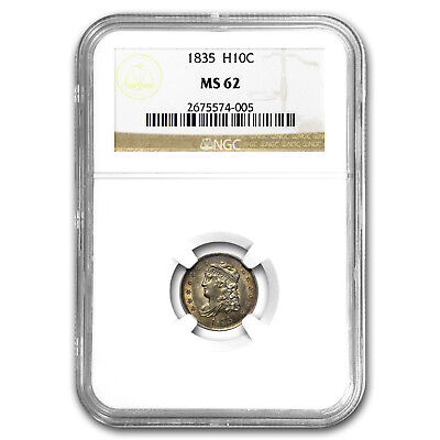 1835 Capped Bust Half Dime MS-62 NGC