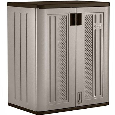 Outdoor Storage Cabinet Utility Base Box Yard Garden Patio Garage Deck Tool Shed