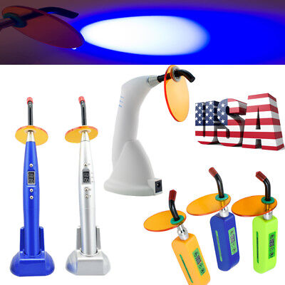 Us Dental Cordless Led Curing Light Lamp 2000mw For Teeth Cure Solidify Powerful