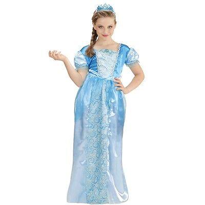 Kinder Kostüm Kleid + Tiara Elsa Mädchen Eiskönigin Schneekönigin - Schnee Mädchen Kostüm