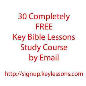 30 FREE Key Bible Lessons by Email Course