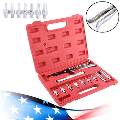 11pc Valve Stem Seal Remover Installer Tool Kit Set Case Removal Pliers (Removable Seal)