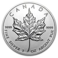 1 oz  Silver Maple Leafs .9999  !!!
