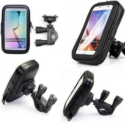 """CUSTODIA IMPERMEABILE PER Cellulare Smartphone 5"""" SUPPORTO MANUBRIO BICI MOTO"""