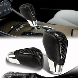 Real Carbon Fiber /PVC Leather Automatic Gear Stick Shift Shifter Knob VIP Sty 1