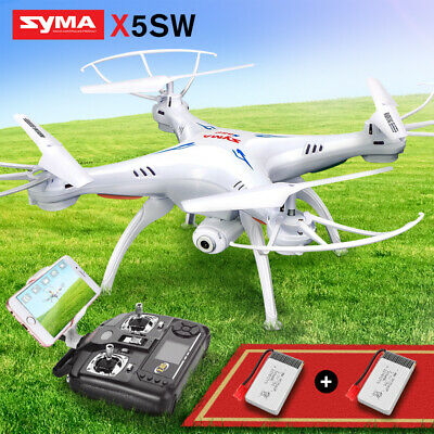 X5SW Wifi Explorers 2.4G RC Headless Quadcopter Drones With HD Camera 4 Battery