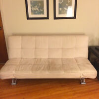 Good Condition Suede Futon (Cream)