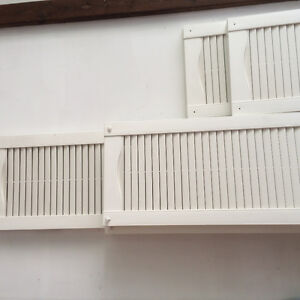 4 sets of white PVC decorative window shutters