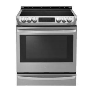 "LG 30"" Slide-in Smooth Surface SS Conv Electric Range $1599"