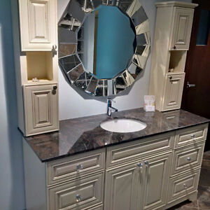 BEAUTIFUL SOLID WOOD CABINETS, VANITIES ON SALE UP TO 80% OFF! Kitchener / Waterloo Kitchener Area image 4