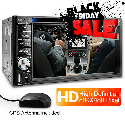 AUTORADIO MIT NAVI GPS NAVIGATION BLUETOOTH TOUCHSCREEN DVD CD USB SD MP3 2DIN