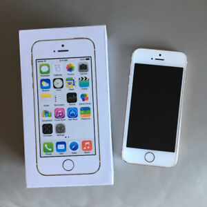 iPhone 5S 64 GB, White/Gold with Charger