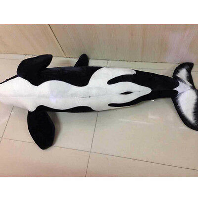 51 Giant Big Simulation Black Shark Killer Whale Plush Toy Stuffed