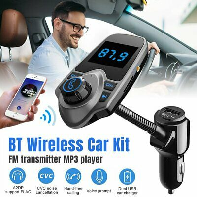 Bluetooth Car FM Transmitter MP3 Player Handsfree Radio Adapter AUX USB Charger
