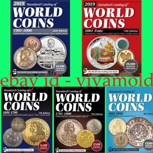 2019 KRAUSE 5pcs set Standard Catalogs of World Coins 1601-2018 Digital Books 🎁