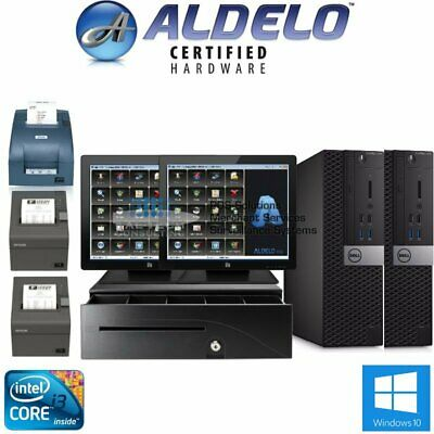 New Aldelo Plus Pos Restaurant Complete 2 Station Welo Touch Screens - I34gb