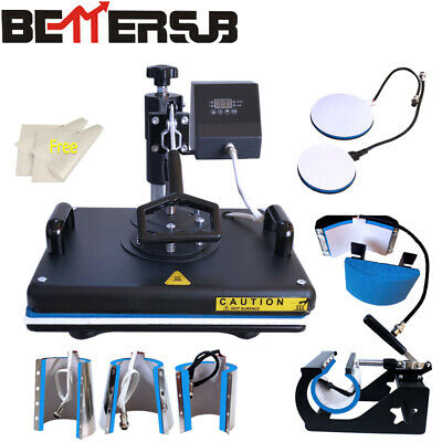 15x12 8in1 Combo Heat Press Transfer Machine Sublimation T-shirt Mug Plate Hat