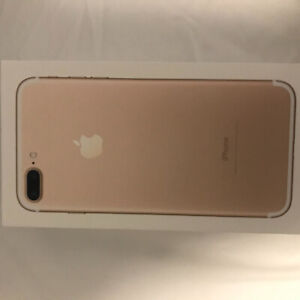 "iPhone 7 Plus Gold 256gs ""UNLOCKED"" with ClearPlex Ultra Film"