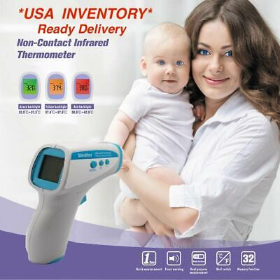 Us Inventory Digital Non-contact Infrared Thermometer Foreheadbody Babyadult