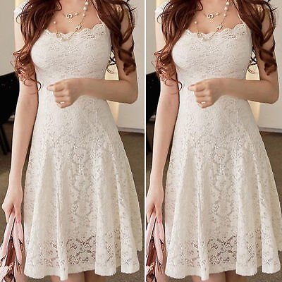 Fashion Women Lace Short Sleeve Party Cocktail Evening Bodycon Summer Mini Dress