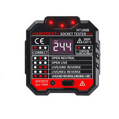 Ht106b Electric Socket Tester Outlet Breaker Finder Switch Detector Lcd Screen