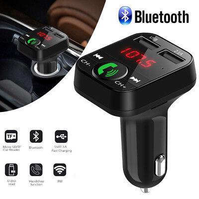 Wireless Bluetooth Car Kit Auto Radio KFZ Adapter FM Transmitter MP3 Player USB