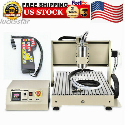 3 Axis Cnc Router Engraver Engraving 6040 Drill Carving Machine 1.5kw Vfd Rc