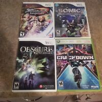 Various Wii games and 1 Xbox 360 game