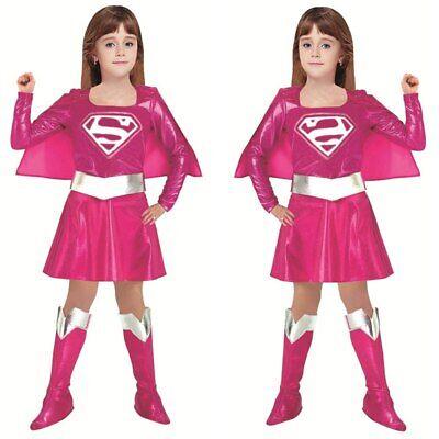 Superman Girl Costumes (Costume Girl Princess Dress Superman Costume Avengers Supergirl Cosplay)