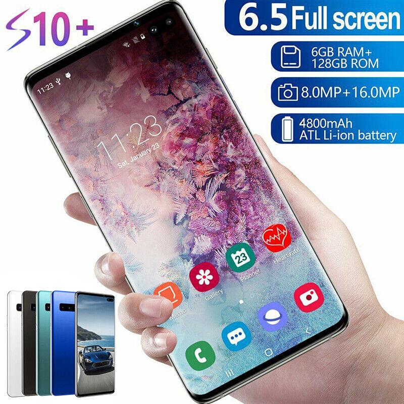 "S10 6,5 "" Android 9.1 Smartphone Face Unlocked Dual SIM 6G+128GB Handy DE"