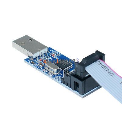 5pcs Usbasp Usbisp Avr Programmer Adapter 10 Pin Cable Usb Atmega8 Atmega128