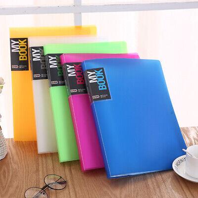 A4 Soft Cover Display Book Anti-glare Pockets Presentation Folder File Portfolio