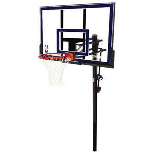 "Spalding 50"" In Ground Basketball System (88355) New in Box"